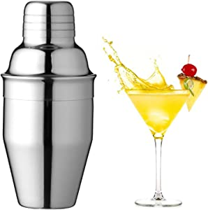 Cocktail Shaker Food Grade Stainless Steel,8.4 Oz/250ml Drink Shaker, Shaker-Built in Strainer Cocktail Strainer for Martini Shaker Bar tools, Bartender Kit Gifts,Small for Home Barll …