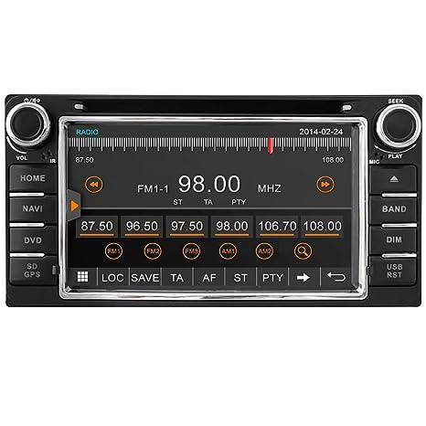 Tablero coche GPS navegación Witson en unidad principal Universal para Toyota 15,75 cm doble