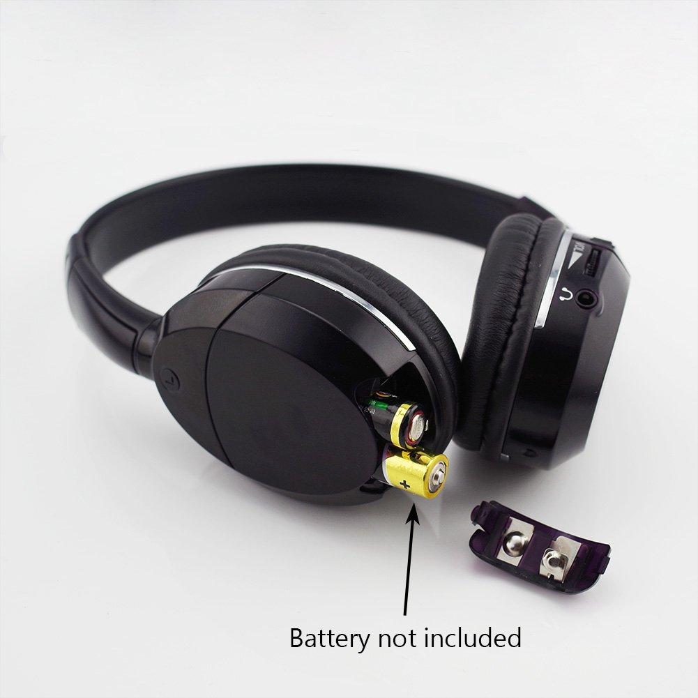 ddauto Universal de 2 canales infrarrojos por infrarrojos inalámbrico para coche auriculares apoyo IR transmisor o conexión Cable Negro (D1001S): Amazon.es: ...