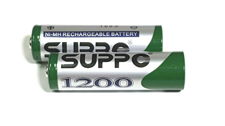 Giggaset Lot de 2 Piles Rechargeables Suppo AA 1200 mAh pour appareils Mobiles 2000 3000 4000 C620 S820