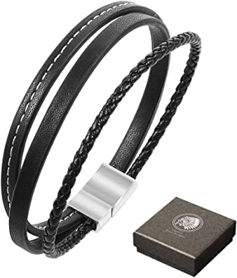amazone bracelet cuir homme