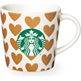Starbucks Golden Hearts Demi Mug, 3 Fl Oz