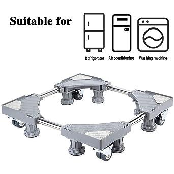smonter multifuncional muebles ajustable base con 4 × 2 bloqueo giratorio de goma ruedas y 8