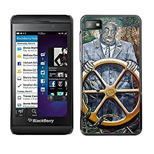 For BlackBerry Z10 - Captain Vintage Painting Golden Boat /Modelo de la piel protectora de la cubierta del caso/ - Super Marley Shop -