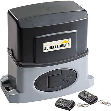 Schellenberg 60804 Slide, Motor para Puerta corredera, hasta un Ancho de 4 m, 400 NM con desbloqueo de Emergencia, negro: Amazon.es: Bricolaje y herramientas