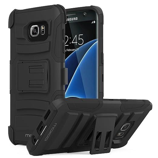 26 opinioni per MoKo Galaxy S7 Edge Case- Holster Cover con supporto integrato e clip e Custodia