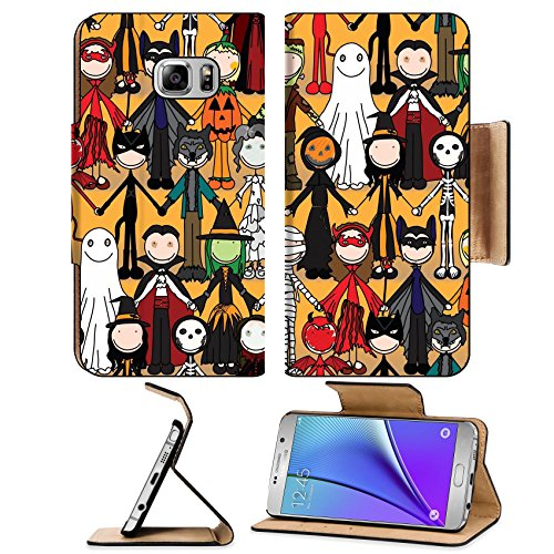 [Liili Premium Samsung Galaxy Note 5 Flip Pu Leather Wallet Case Seamless pattern made of illustrated kids in Halloween costumes Note5 IMAGE ID] (Costume Halloween Walmart)
