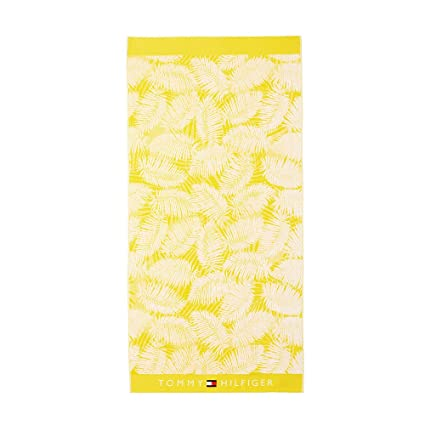 Tommy Hilfiger Palmeras Toalla de playa sol amarillo Palm Eponge Sunny 90 x 180 cm 100