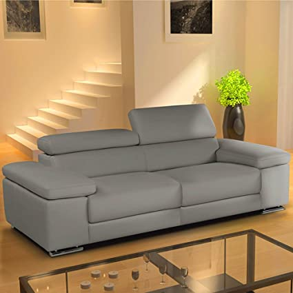 Real piel sofá grande en forma de L Set 3Seater esquina Lazy ...