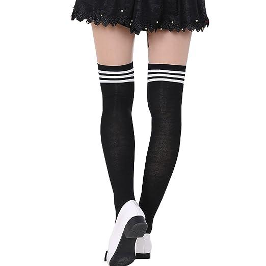 6643110c5 ONEFIT Women s Cotton Referee  Soccer Knee High Socks black whitestripe