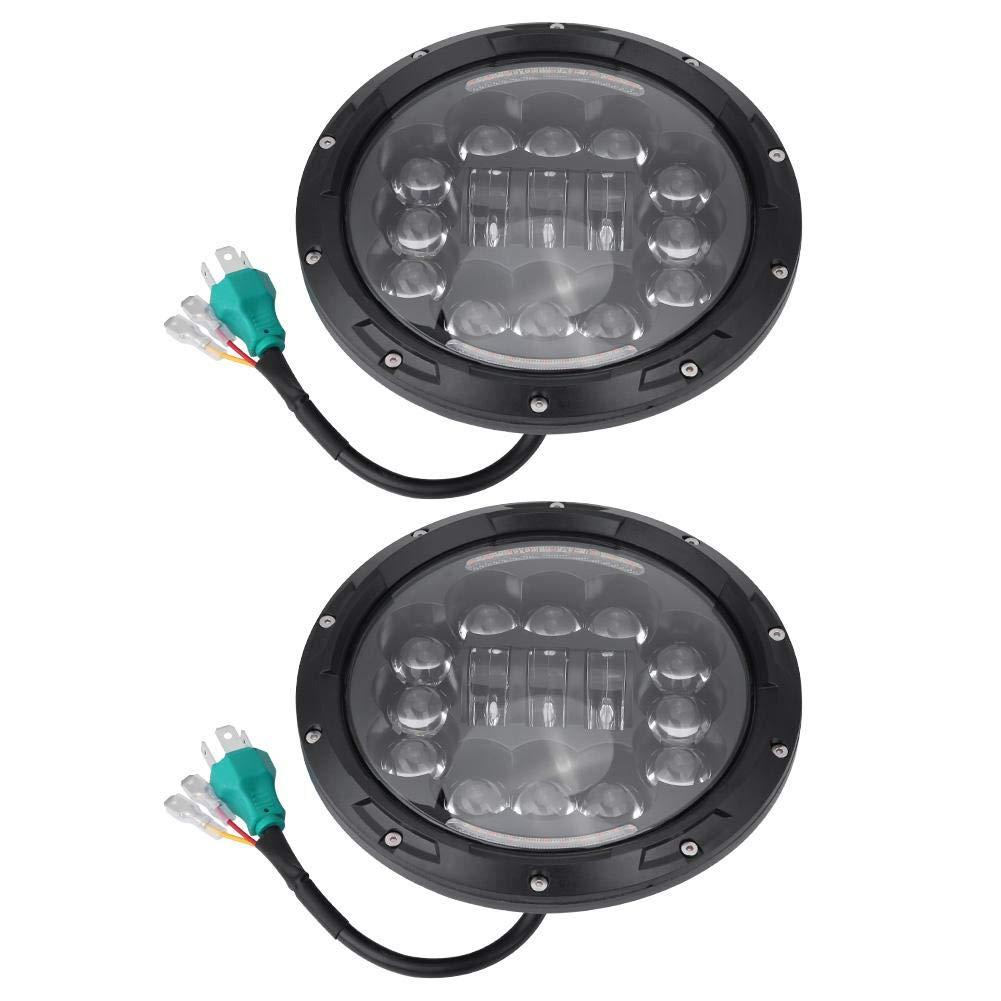 KIMISS 1 par de 7 pulgadas H4-H13 90W LED auto faro de halo faros de haz alto y bajo para 97-16