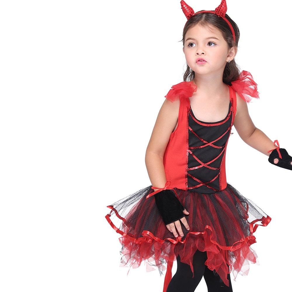 Girl's Halloween Cosplay Costume Suit Children's Dancewear Dancing Dress (Large) by KeepMoving (Image #6)