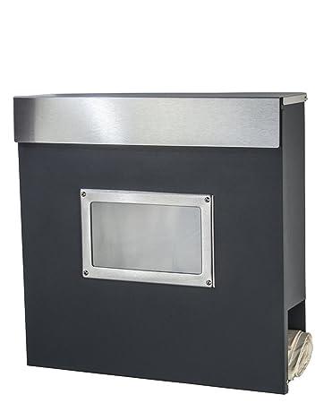 briefkasten edelstahl mit free radius briefkasten letterman xxl aus edelstahl mit ledklingel. Black Bedroom Furniture Sets. Home Design Ideas