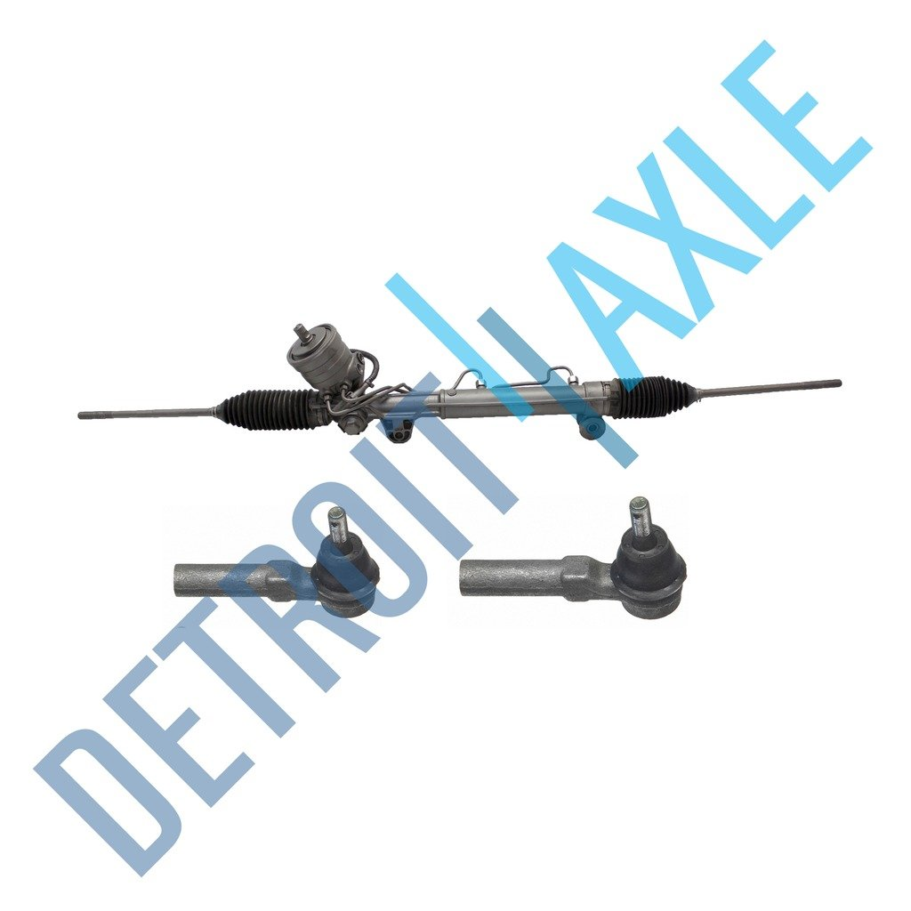 MagnaSteer [w/Sensor] Complete Power Steering Rack & Pinion Assembly + All 4 Inner & Outer Tie Rod Ends Detroit Axle