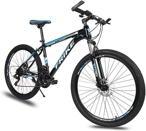 LINGJIE Mountain Bike Unisex, Bicicletas Montaña 26 Pulgadas, MTB para Hombre, Mujer,Frenos De Doble Disco, Rueda De Radios,Darkblue: Amazon.es: Hogar