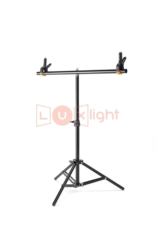Pied d/éclairage et Blanc en Vinyle pour Studio Photo kit Portable r/églable T-Stand Support /& PVC Fond Luxlight Vinyle 1/m x 2/m 190/cm Support?: 90/cm de Largeur et Hauteur 80