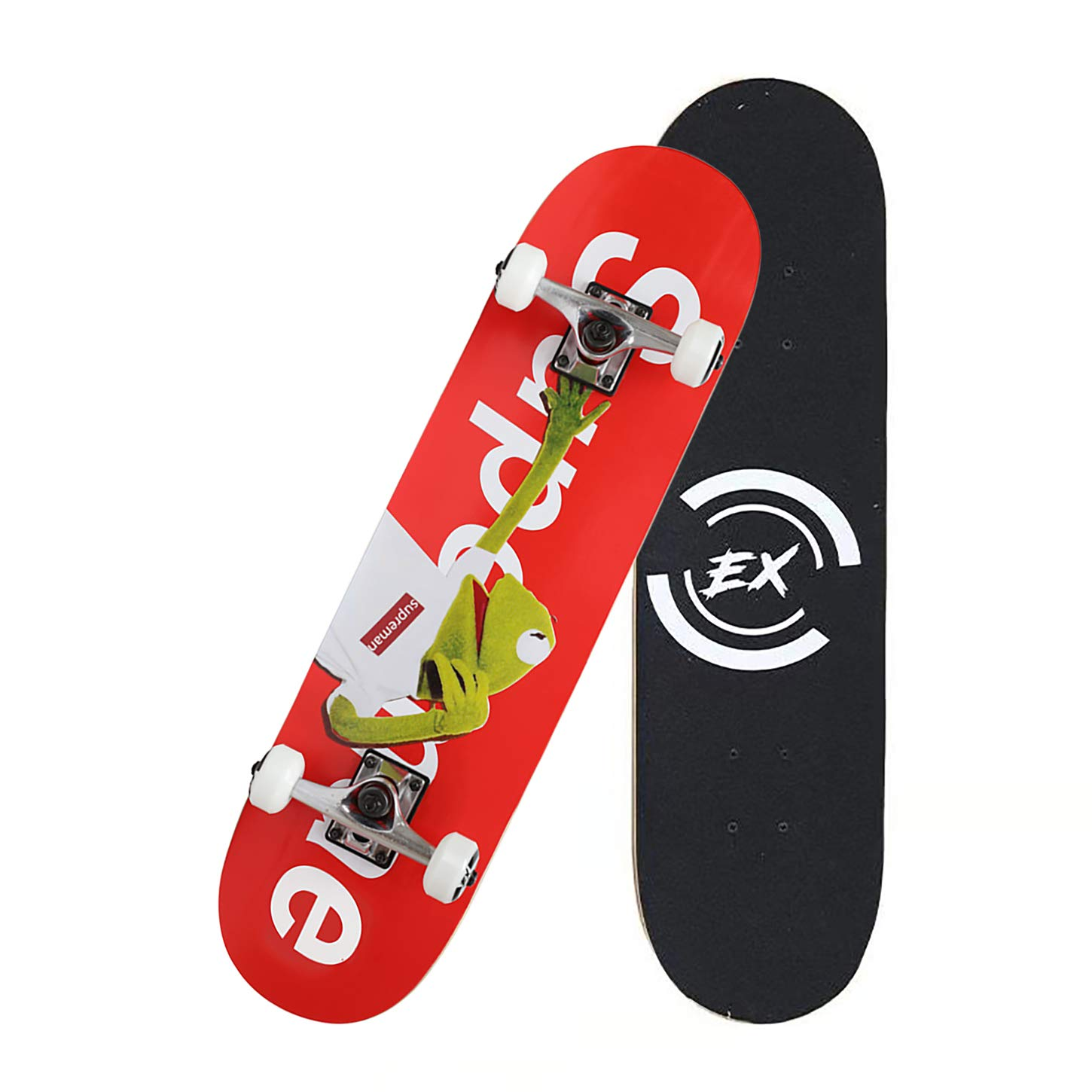 Pro Skateboard 31'' X 8'' Standard Skateboards Cruiser Complete Canadian Maple 8 Layers Double Kick Concave Skate Boards (DYS-SKATE-019)
