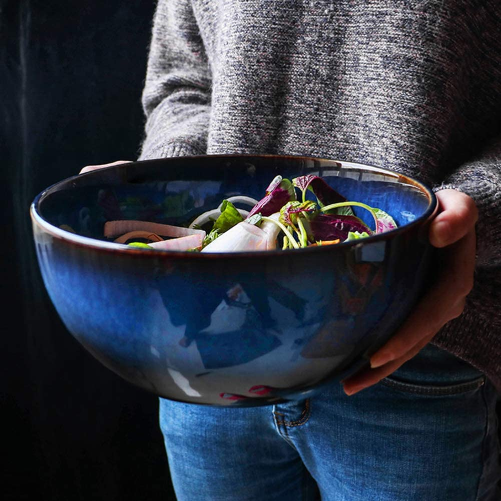 Creative Personality Home Ceramic Bowl-A 15x8cm 6x3inch ZY/&DD Japanese Eating noodle Bowl,Big Soup Bowl,Millet rice Bowl
