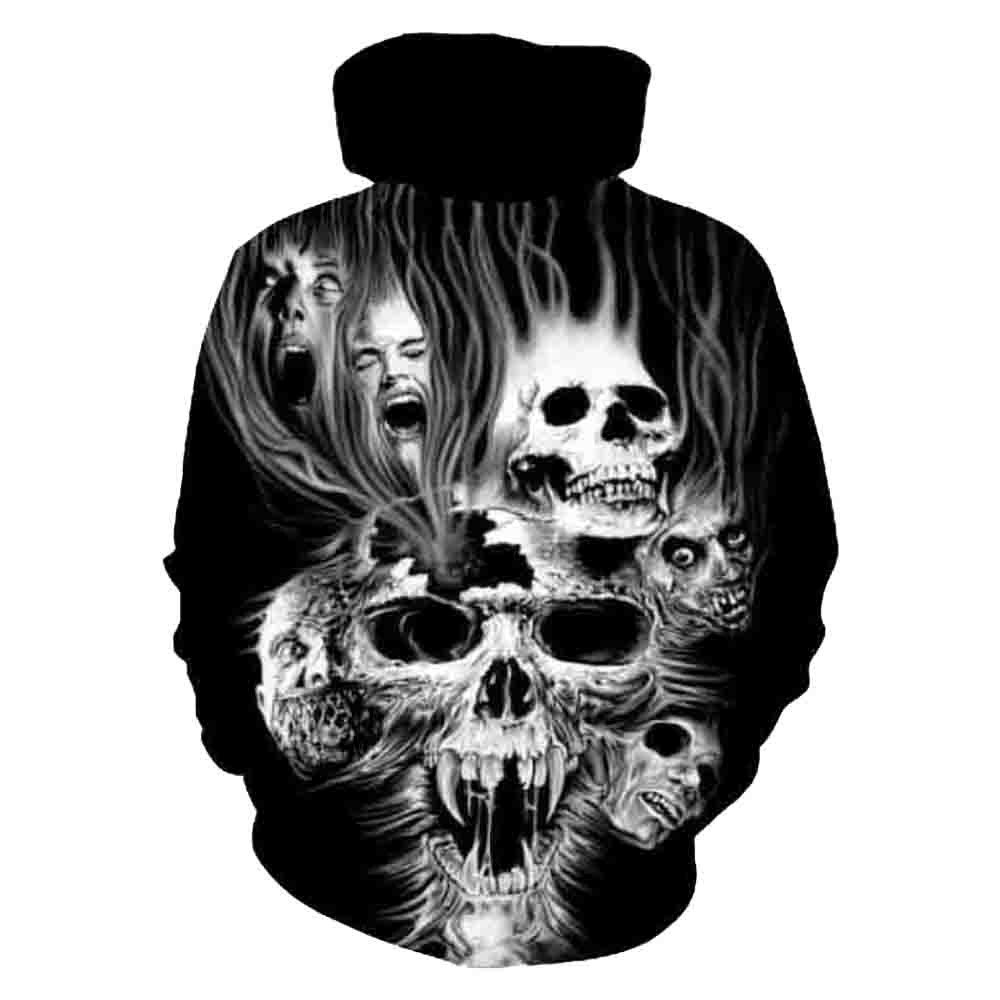 Photno Womens Hooded Sweatshirts Pullover Hoodies Fall Fashion 3D Print Tops Shirt Blouse Coat Outwear