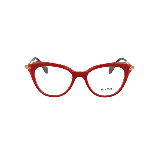 31b120ff965a Eyeglasses Miu MU 1 QV VX91O1 RED TOP TRANSPARENT RED  Amazon.ca  Clothing    Accessories