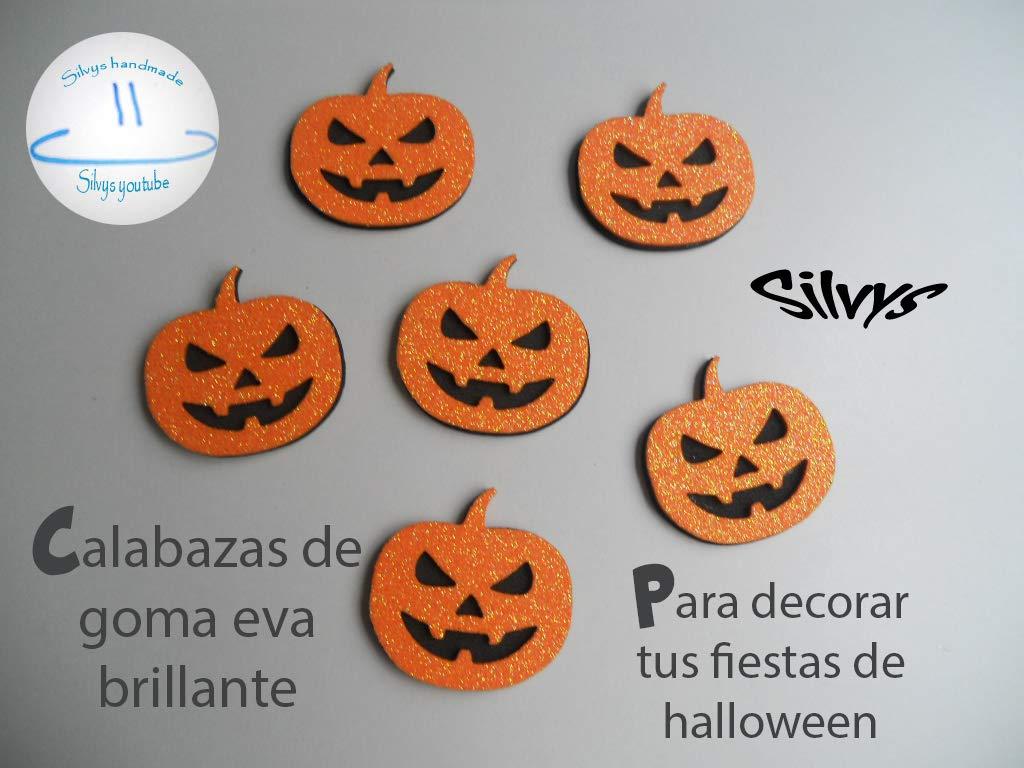 Adornos halloween 6 Calabazas para decorar en de goma eva ...