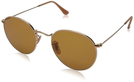 5da5c76bb048e Óculos de Sol Ray Ban Round Metal Rb3447 90644i 53 Dourado  Amazon ...