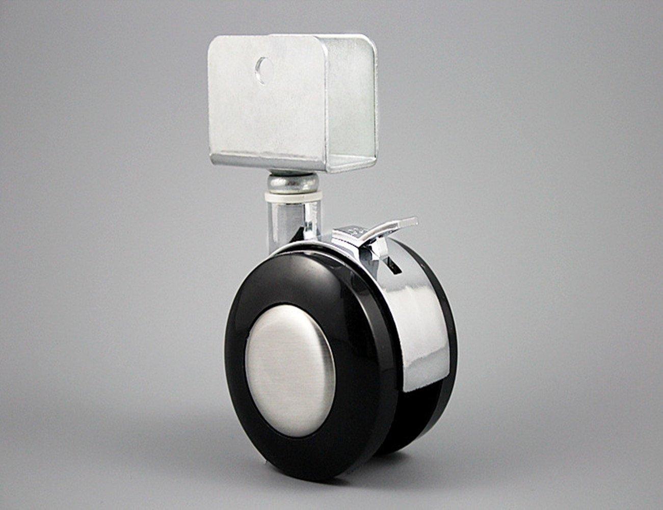Duro pavimento ruote girevole Ruote 25mm gebremst Set di ruote per sedia da ufficio presepe SDFSDVX FDVS-4155
