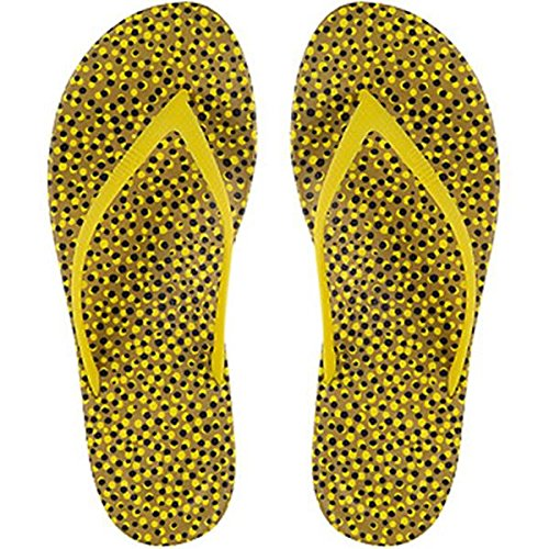 FitFlop Women's iQushion Ergonomic Flip-Flop,Yellow Bubbles,US 7 M ()