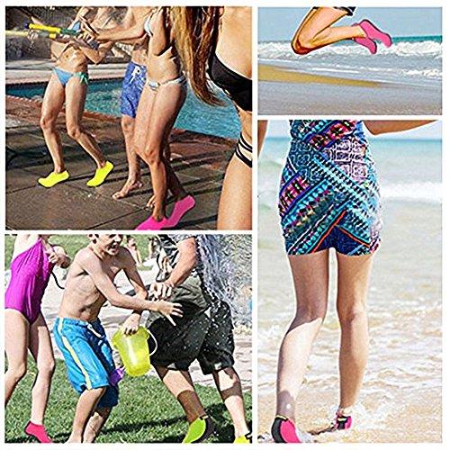 Miuincy Uomo Donna E Bambini Quick-dry Water Shoes Calze Aqua Leggere Per Beach Pool Surf Yoga Esercizio Rosa