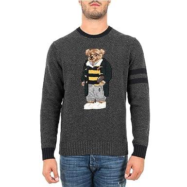 Polo Ralph Lauren Maglia Polo Bear Uomo Mod. 710717793 XXL: Amazon ...