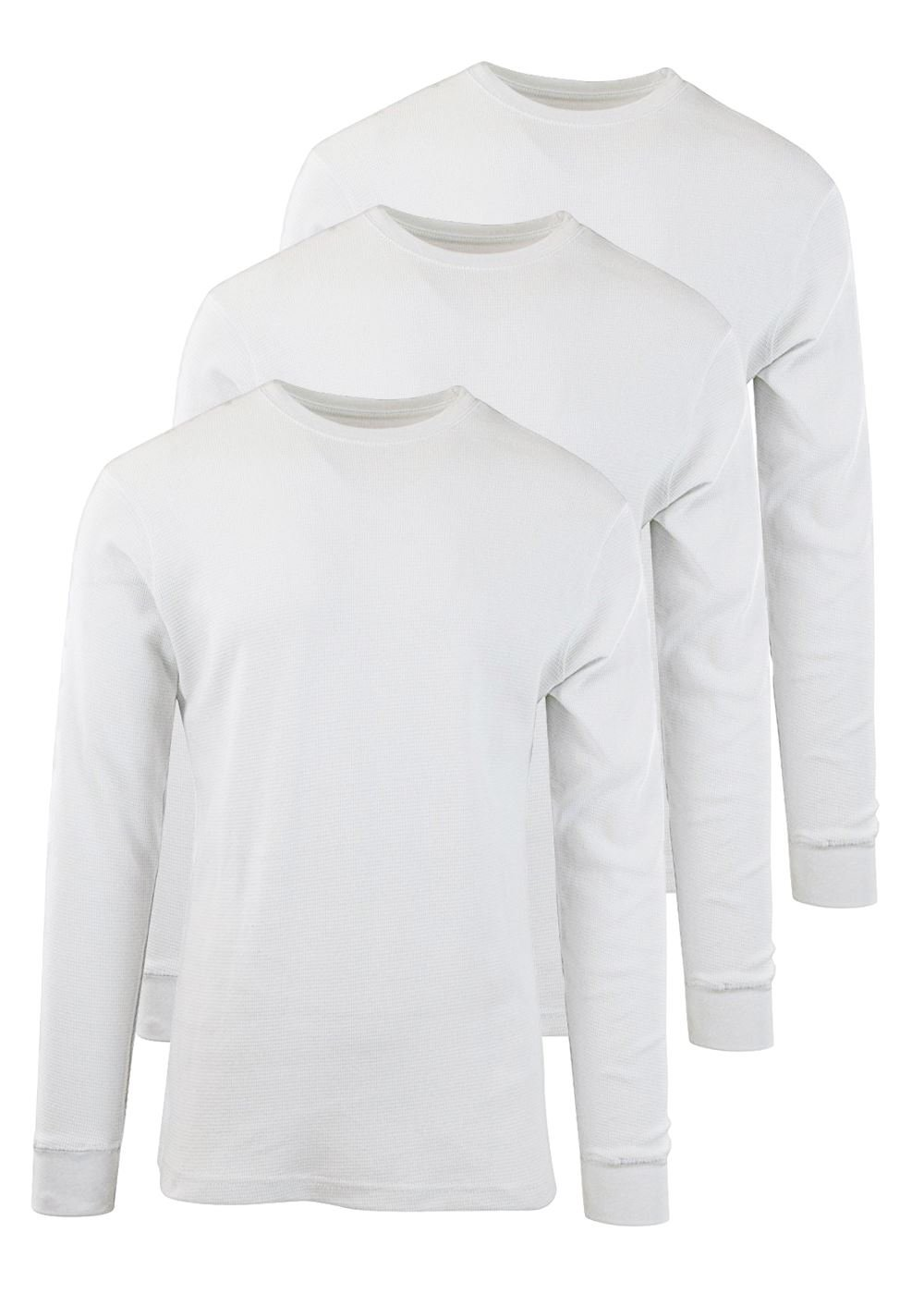 Byn Dynasty Thermal 3 Pack Long Sleeve White 2X-Large