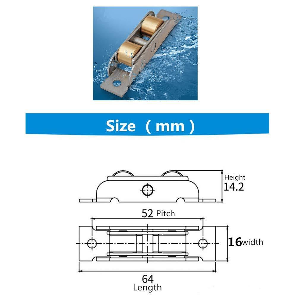 Stillshine 4 St/ück Tandem Rollen L/äufer Rad Montage f/ür Schiebefenster und Schiebet/ür 14mm Breite, Konkave rollen