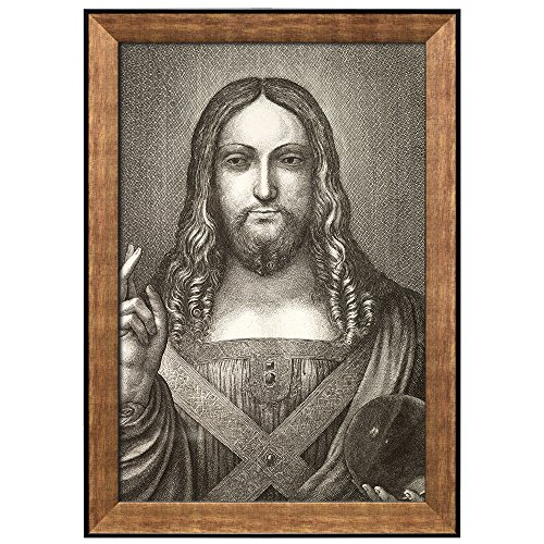 Salvator Mundi (State 1) by Leonardo Da Vinci Framed Art