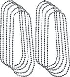"10 PACK - 24"" Inch Ball Chain Necklace - 2.4mm - Military Long Dog Tag Necklaces"