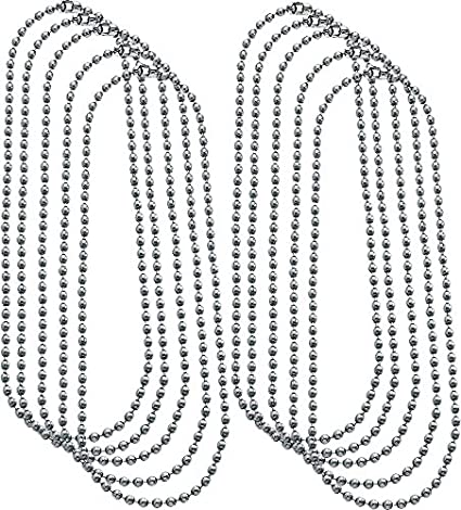 chain silver inch color steel necklace ball ip