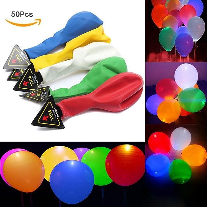 5 opinioni per Palloncini LED, Domowin Palloncini colorati con luce LED palloncini luminosi 50