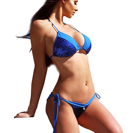 f04bb45640a41 Amazon.com  Amanod 2018 hot sale Women s Bandage Bikini Set Push-up Padded  Bra Swimsuit Bathing Suit Swimwear  Clothing