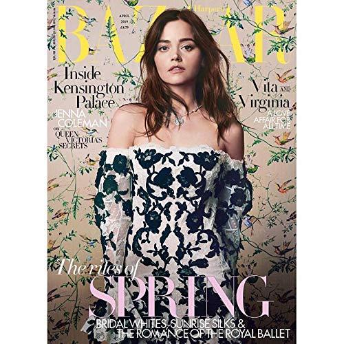 Harper's Bazaar UK Magazine (April, 2019) Jenna Coleman - Bazaar Magazine Covers