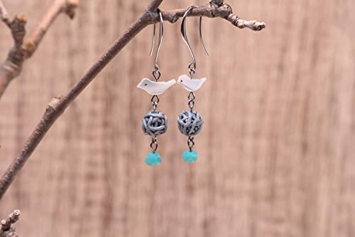 Handmade earring with mother of pearl