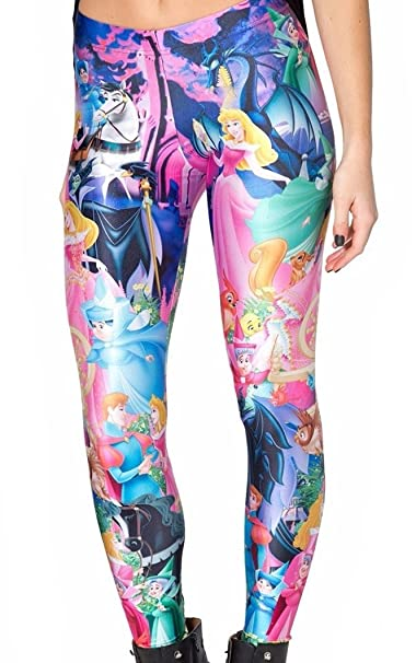 f7a397fbb06929 Image Unavailable. Image not available for. Color: Disney's Sleeping Beauty  Polyester/Spandex Womens Leggings