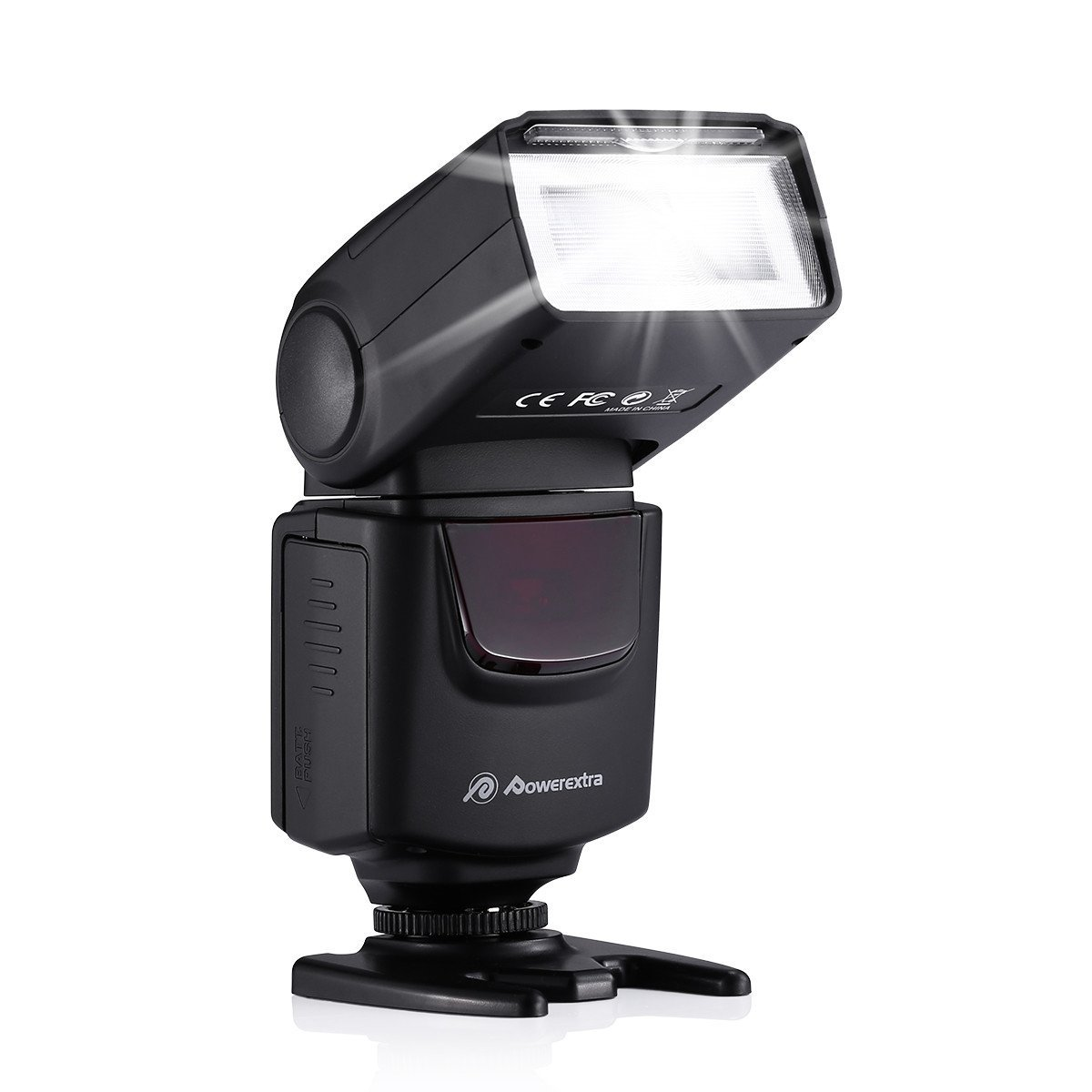 Powerextra DF-400 Speedlite Camera Flash for Canon Nikon Pentax Samsung Fujifilm Olympus Panasonic Sigma Minolta Leica Ricoh DSLR Cameras and Others with Single-Contact Hotshoe