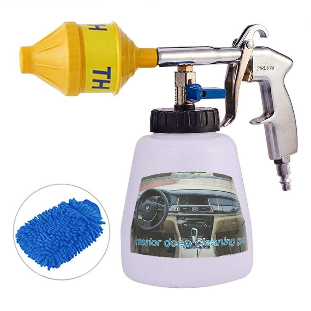 Car Cleaning Foam Gun - High Pressure Tornado Washing Cleaner Kit, Turbo Pro Automotive Care Detailing Tools, Exterior Air Pulse Sprayer Nozzle,1L Soap Bottle