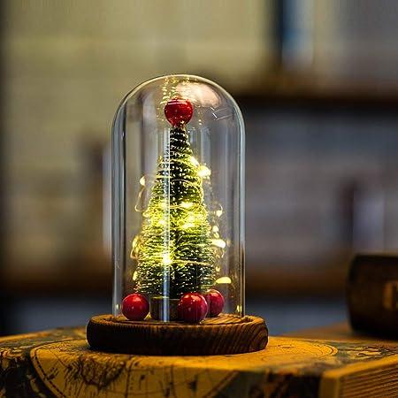 Handfly Árbol de Navidad con Luces en cúpula de Vidrio para ...