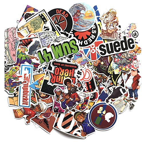 (Rock Band Stickers 160Pcs Hip-Pop Laptop Stickers Pack Rock and Roll Music Stickers Vinyl Stickers car Sticker Snowboard Motorcycle Bicycle Mac Car Bumper Graffiti roll Decoration)