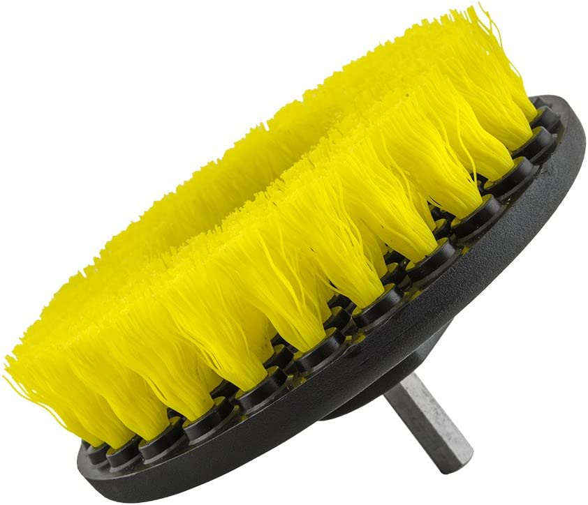 ACC/_201 Yellow Chemical Guys Carpet Brush with Drill Attachment Medium Duty