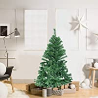 Herron Christmas Tree Artificial Premium Spruce Hinged Xmas Tree with Metal Stand for Indoors&Outdoors …