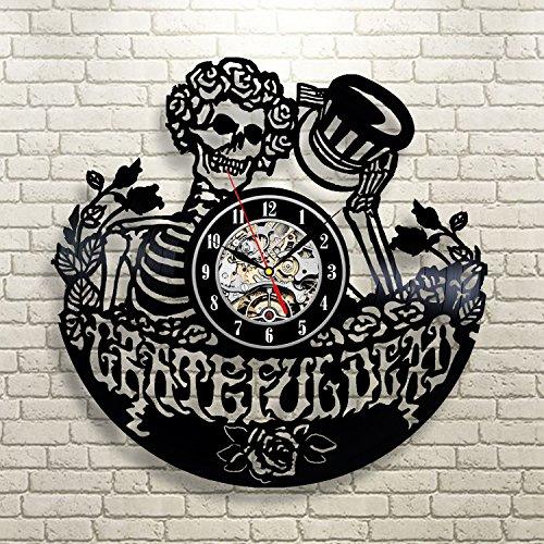 (Grateful Dead Art Vinyl Record Clock Wall Decor Home Design)