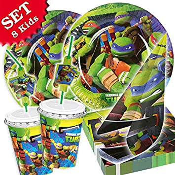 Ninja Turtles Party Set para 8 niños, 52 piezas para la ...