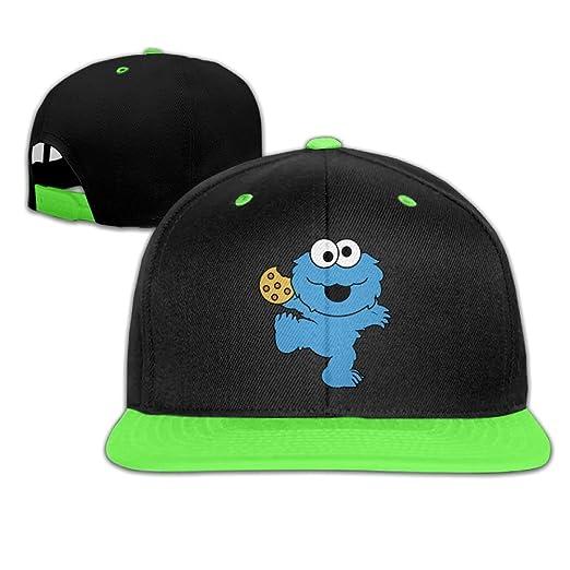 807369024c4 Mr Xionghua Kid s Cute Blue Dancing Monster with Cookies Hat Hip Hop Baseball  Cap Boys Girls
