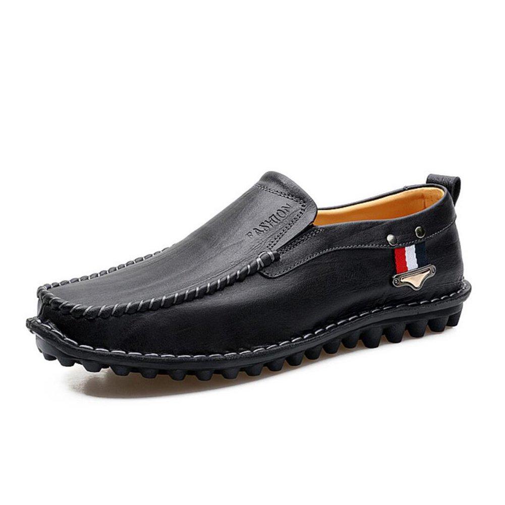 CAI Herrenschuhe Leder Flach Slipper Frühling/Herbst / Winter  Herren Comfort Slipper & Slip-Ons Wanderschuhe/Driving Schuhes/Formelle Schuhe (Farbe : Schwarz, Größe : 42)